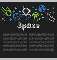space poster with text sample and icons vector image vector image