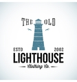 The Old Lighthouse Nautical Abstract Retro vector image
