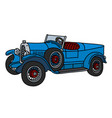 the vintage blue roadster vector image vector image