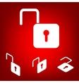 Unlock icon - set Isometric vector image