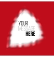 white halftone pattern on red backround vector image vector image