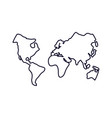 world maps geography icons vector image vector image