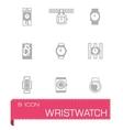 Wristwatch icon set vector image vector image