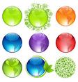 Glossy Globes Set vector image