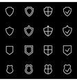 line shield icon set vector image