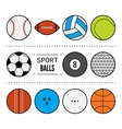 Set of sport balls for games Flat icons sports vector image
