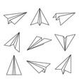 paper plane outline vector image