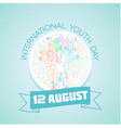 12 august international youth day vector image vector image