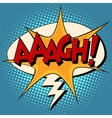 aaagh comic bubble retro text vector image vector image