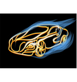 abstract golden car vector image