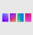 abstract gradient color pattern texture for book vector image