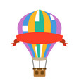 aerostat air balloon with red advertising ribbon vector image vector image