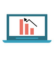 bar graph chart icon image vector image