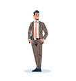 businessman holding documents folder business man vector image vector image