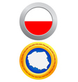 button as a symbol POLAND vector image vector image