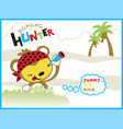 cartoon of the banana hunter vector image