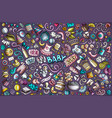 colorful doodle cartoon set baobjects vector image