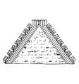 Crest tile or material vintage engraving