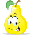 cute pear character - isolated on white back vector image vector image