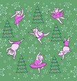 dancing piglets pattern vector image