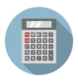 Dark gray calculator vector image