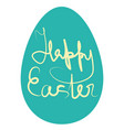 design calligraphy text on holiday eastern egg vector image