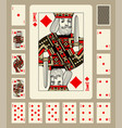 diamonds suit playing cards vector image vector image