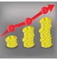 financial bar chart diagram vector image
