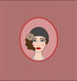 Flapper girl 20s-30s style portrait vignette vector image