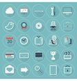 Flat Icon Trendy Long Shadow Website Mobile Apps vector image