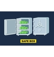 flat safe boxes open and closed locked vector image