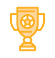 football champion cup icon outline vector image