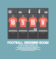 Football Or Soccer Dressing Room vector image vector image