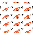 foxes seamless background vector image