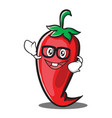 geek red chili character cartoon vector image vector image