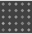 Geometric icons set vector image