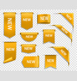 golden ribbons banners and labels new tag vector image