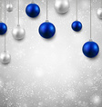 Grey background with christmas balls vector image vector image