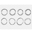 hand drawn circles lines sketch round scribble vector image vector image