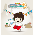 Happy Songkran Day Young Asian boy