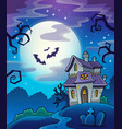 haunted house theme background vector image vector image