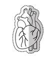 heart human organ icon vector image vector image