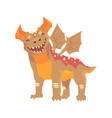 horned dragon monster with wings mythical and vector image vector image