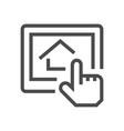 housing development icon vector image