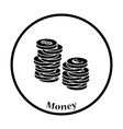 Icon of Stack of coins vector image vector image