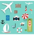 icons and concepts in flat style - travel vector image vector image