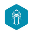 indian headdress icon simple style vector image vector image