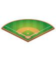 isometric baseball field flat baseball field vector image vector image