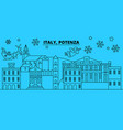 italy potenza winter holidays skyline merry vector image vector image