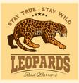 jaguar leopard logo emblem symbol vector image vector image